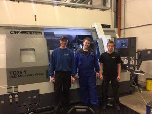 Bergsli Metallmaskiner gratulerer Stefans mekaniske med ny CMZ TC35Y/1400