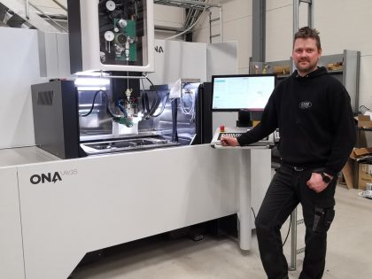 KSM/Skien verktøyindustri AS har installert ny ONA trådgnistmaskin!