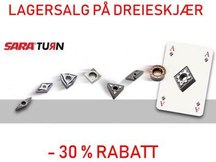 LAGERSALG PÅ DREIESKJÆR > 30% RABATT